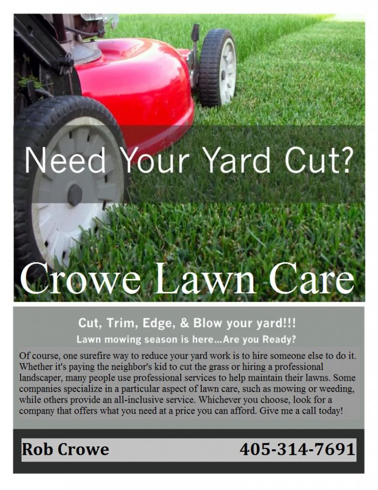 Examples of lawn mowing flyers joy studio design gallery for Lawn maintenance service